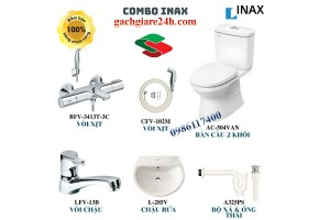 combo thiết bị vệ sinh inax 3