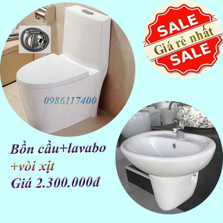 Bồn cầu lavabo khuyến mãi 012