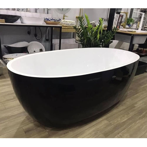 Bồn tắm oval đen 1m7