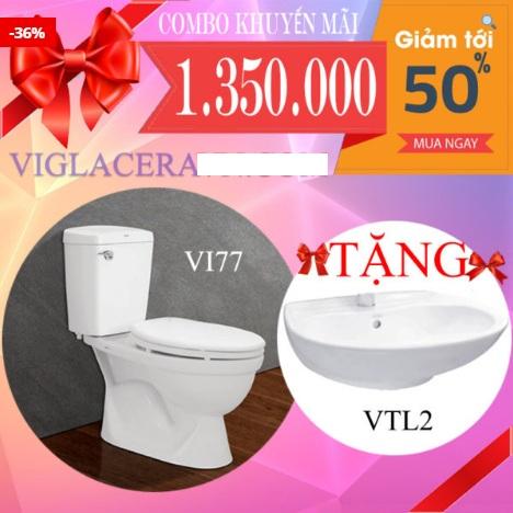 bồn cầu viglacera vi77