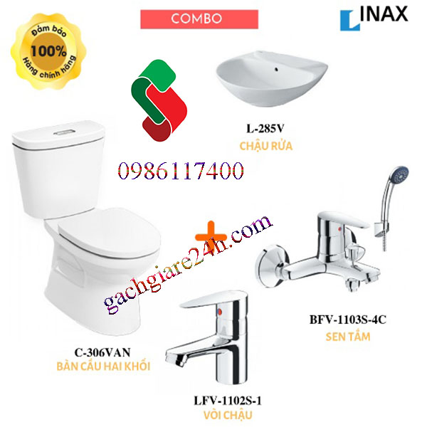 combo thiết bị vệ sinh inax 8