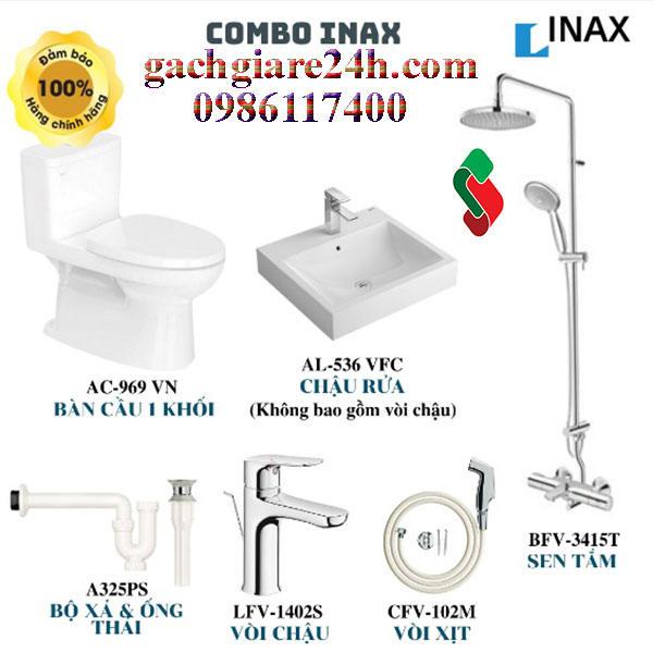 Combo thiết bị vệ sinh inax 2